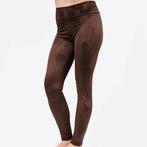 Pants - Brown suede leggings